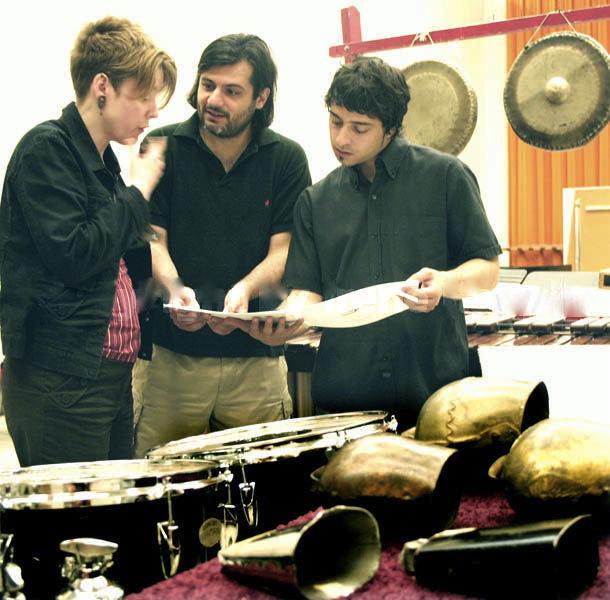TA, composer Paolo Cavallone, & conductor/composer Christian Baldini at June in Buffalo.