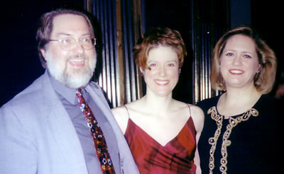 composer William Averitt, TA, conductor Elizabeth Schulze in 2003