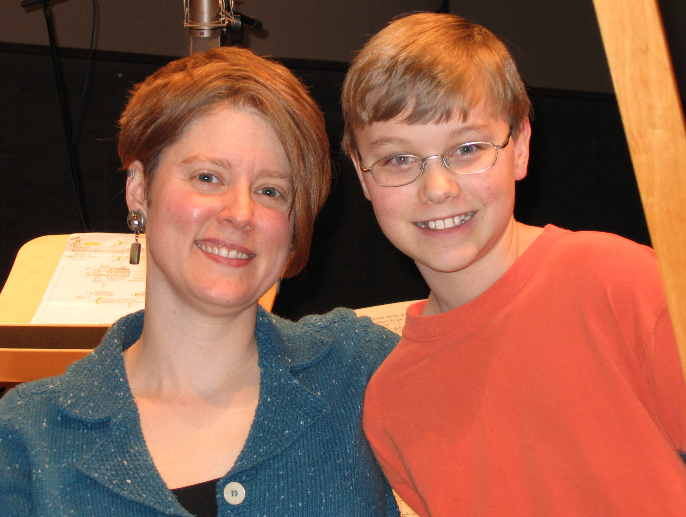 with Justin Murray after recording Ancient Voices of Children