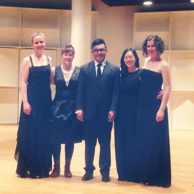 Arneis Quartet, following Schoenberg & Harbison at Boston University, 2014