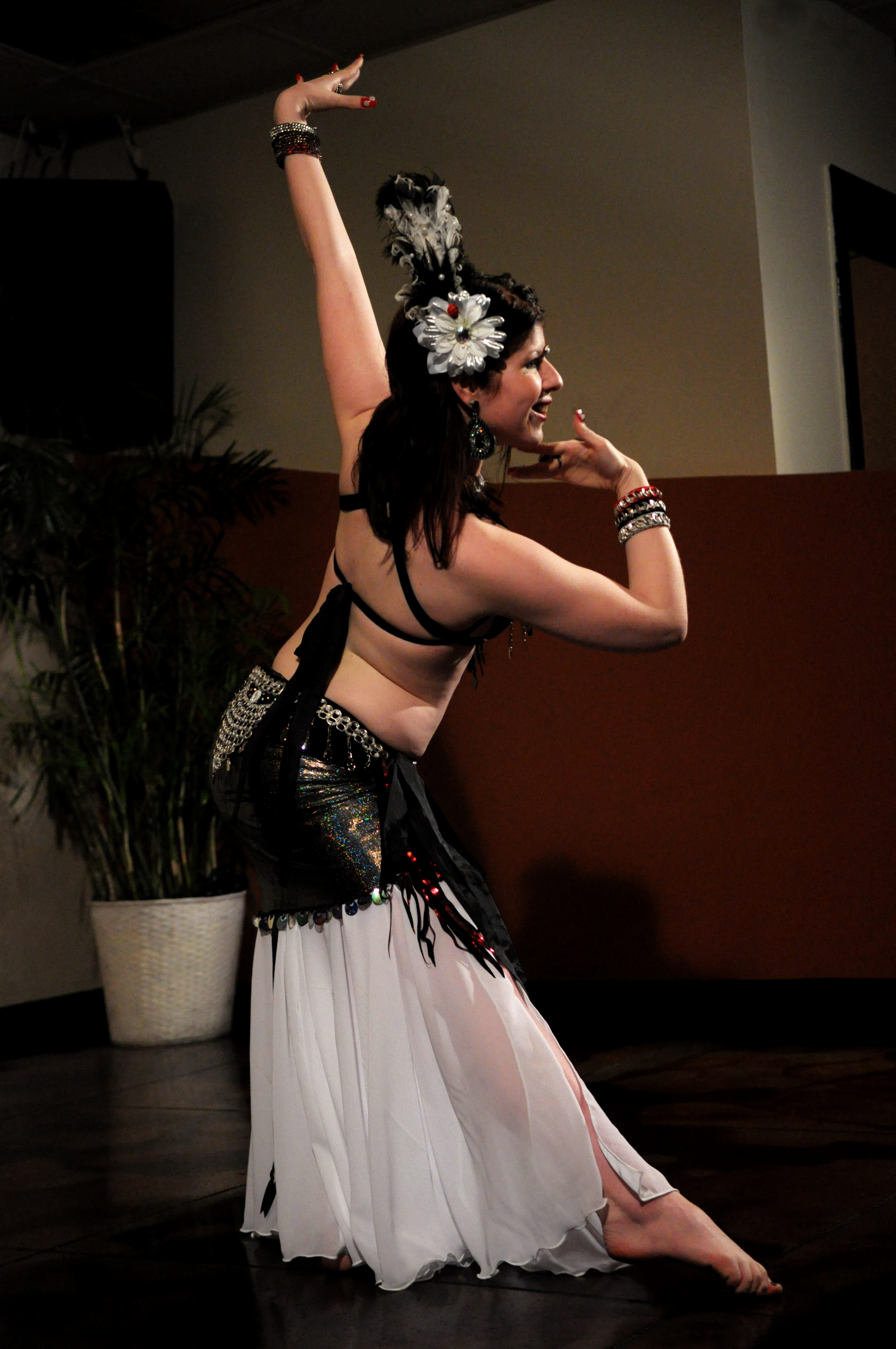 Amani showing grace & poise while bellydancing @ Mythos restaurant in Clearwater, FL.