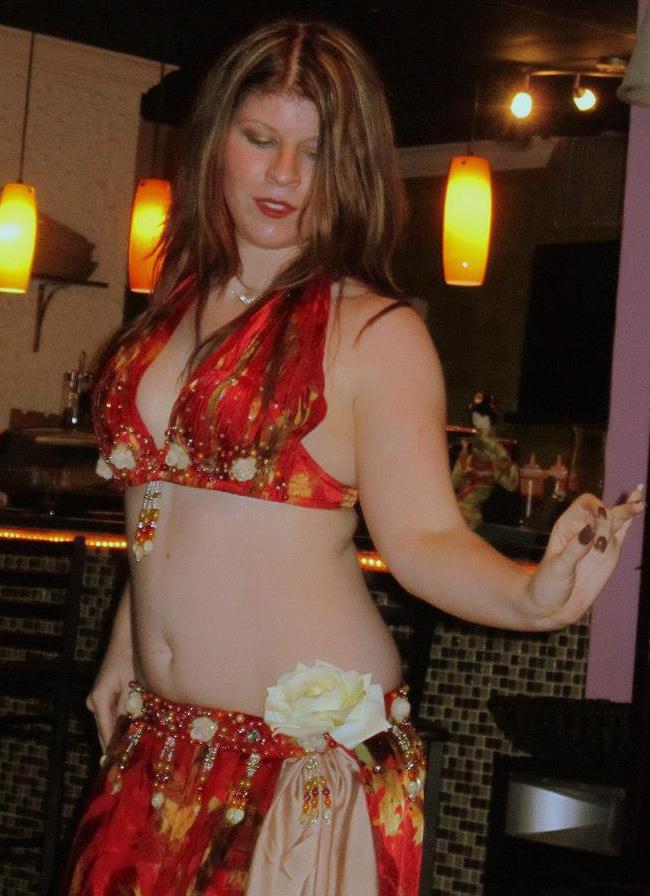 Amani bellydancing @ a restaurant in New Port Richey, FL.