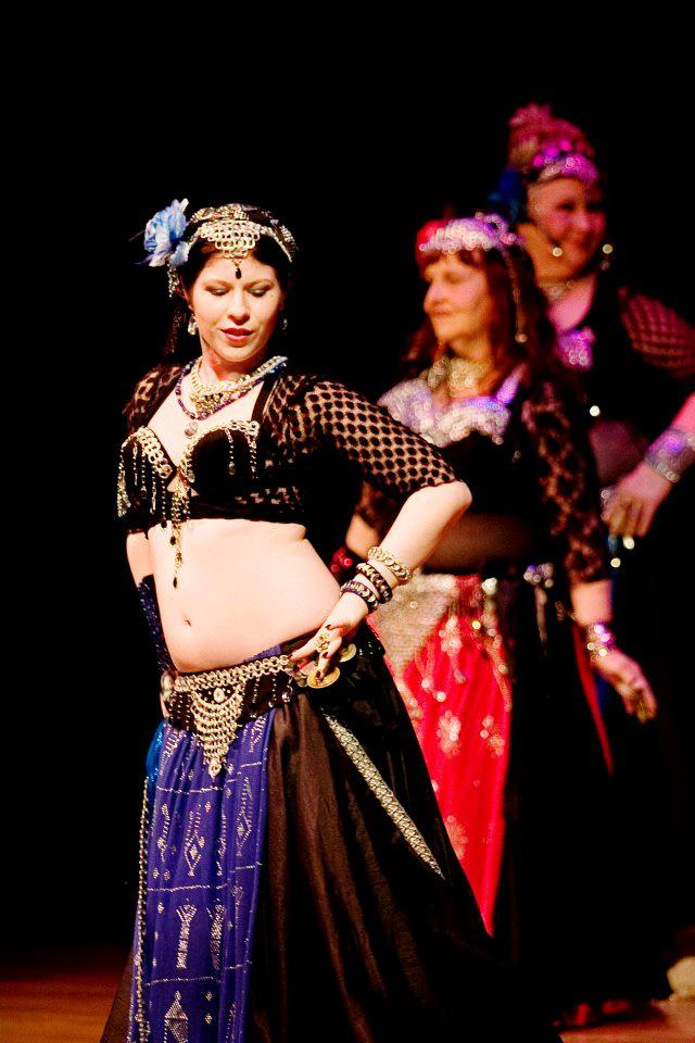 Amani Maharet & Troupe Zahara during an American Belly Dance Club show in Melbourne, FL.