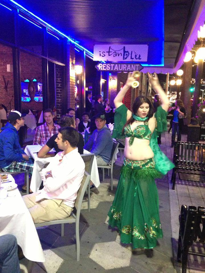Amani Maharet bellydancing @ Istanblu restaurantin Ybor City, Tampa, FL.