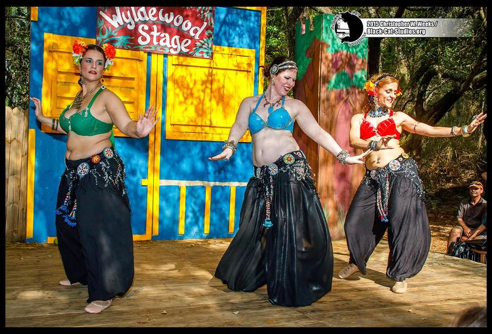 Obsidian Tribal Dance during the belly dance competetion @ the 2015 Bay Area Renaissance Festival in Tampa, FL.