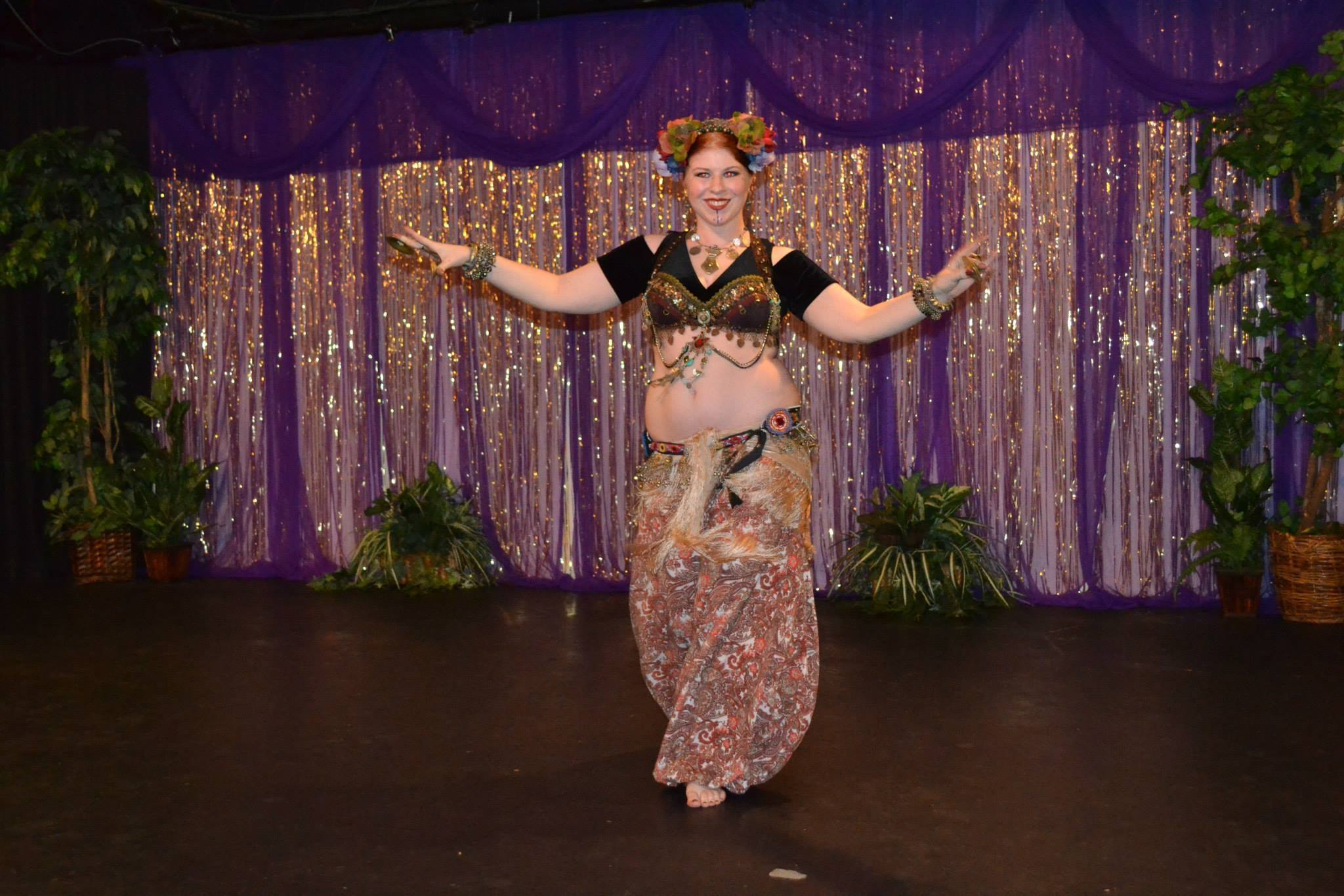 Amani Maharet performing at the American BellyDance Studio's annual gala show.
