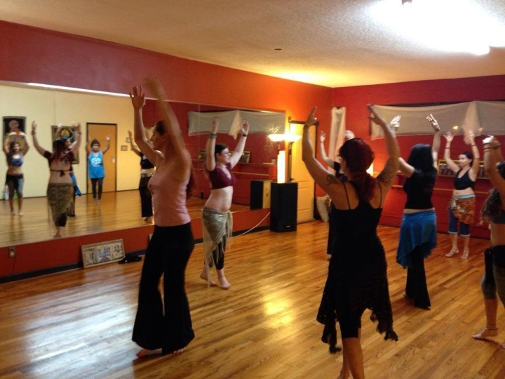 Amani Maharet teaching ATS at Hip Expressions Dance Studio in St. Pete, FL