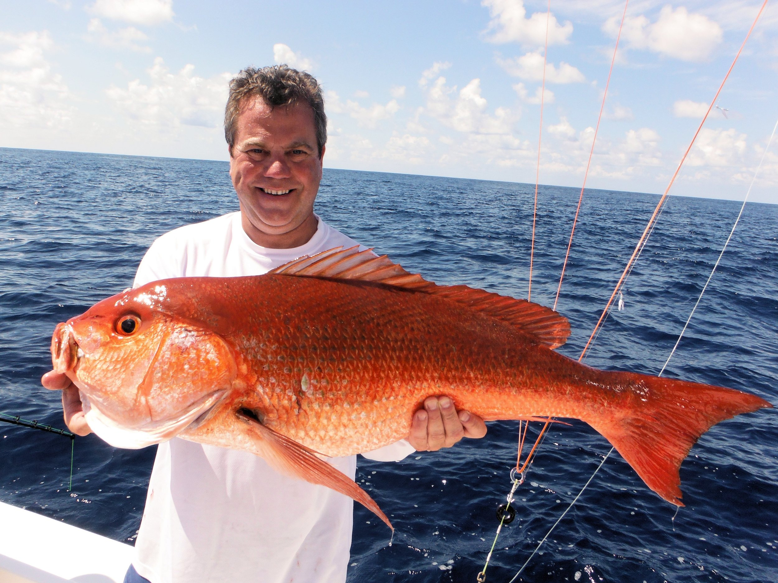 Moonwalker Owner, Kenny Bertsch with 35lb. snapper. January 26, 2014