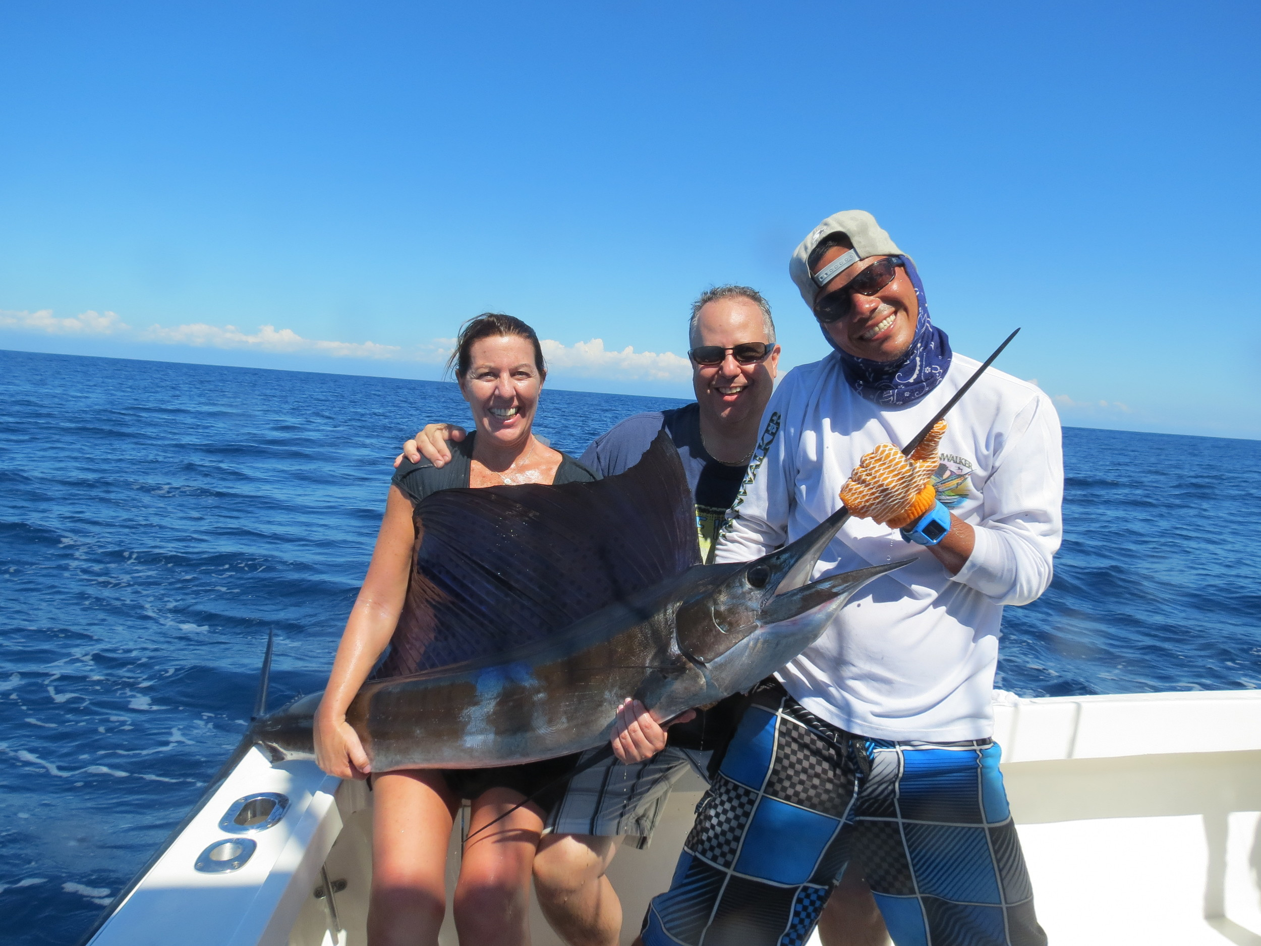 johanna and Anthony Pellati, mate Kelvin and Johanna's first sailfish