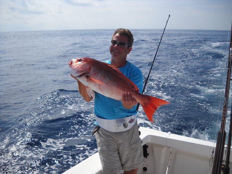 Kenny Bertsch with red Snapper on February 5th.
