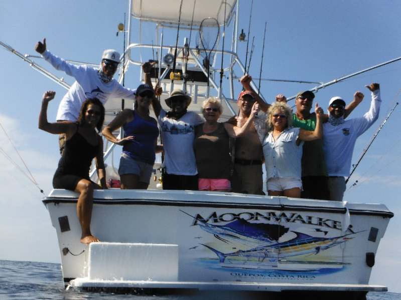 From left to right Terri Bertsch, Captain Kevin, Tana Leto, Mate Keller, Helga Bertsch, Dennis Souva, Cindy Baker, Ronnie Swenck and Mate Maco. Photo by Kenny Bertsch.