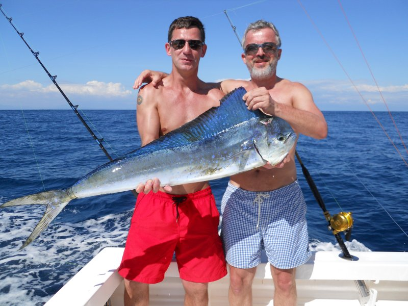 Chuck Rimmel & Andy Eichenlaub (from Germany) with one of two Dorado's boated on February 9th.