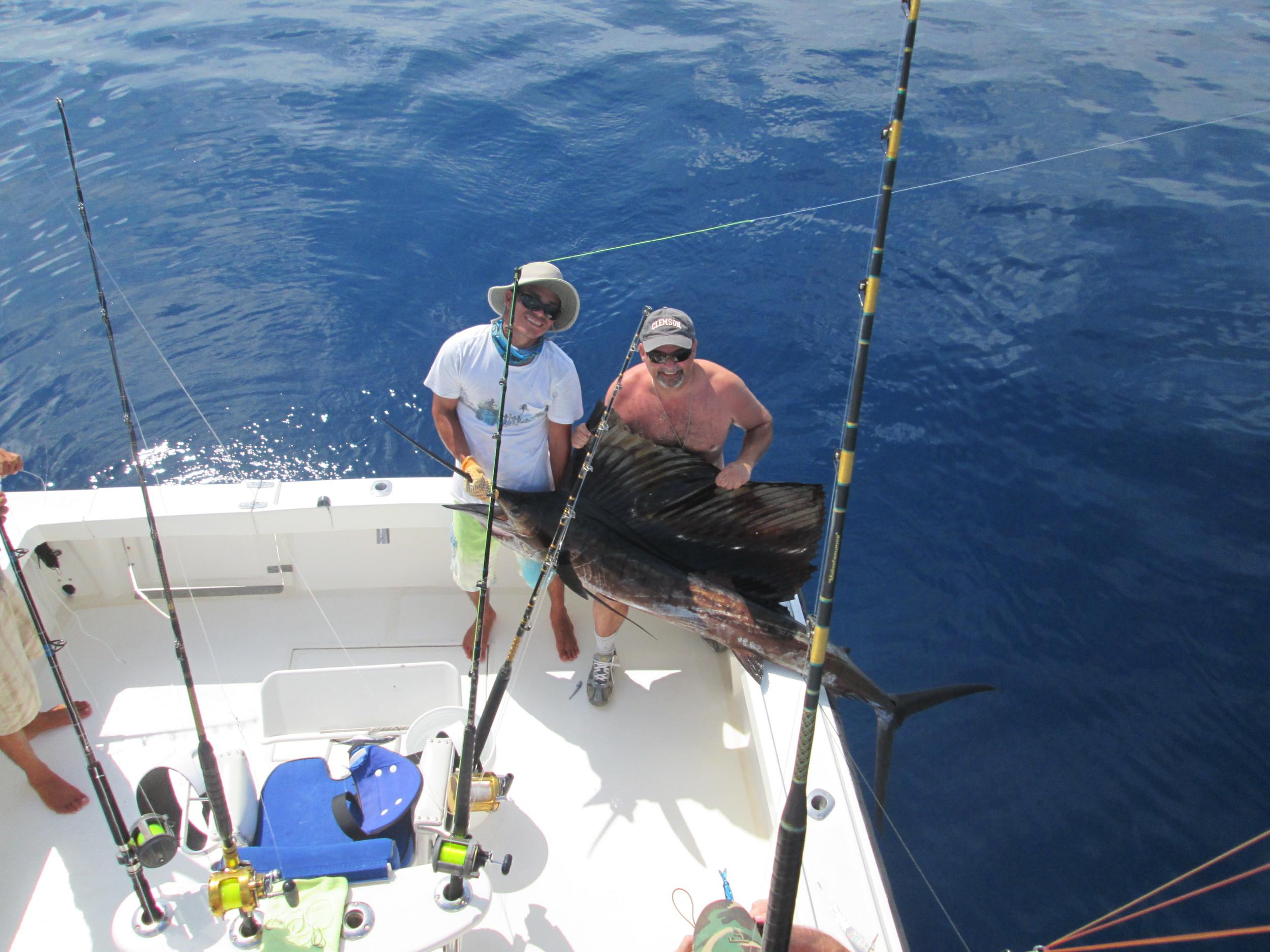 Johnny G. with his sailfish.