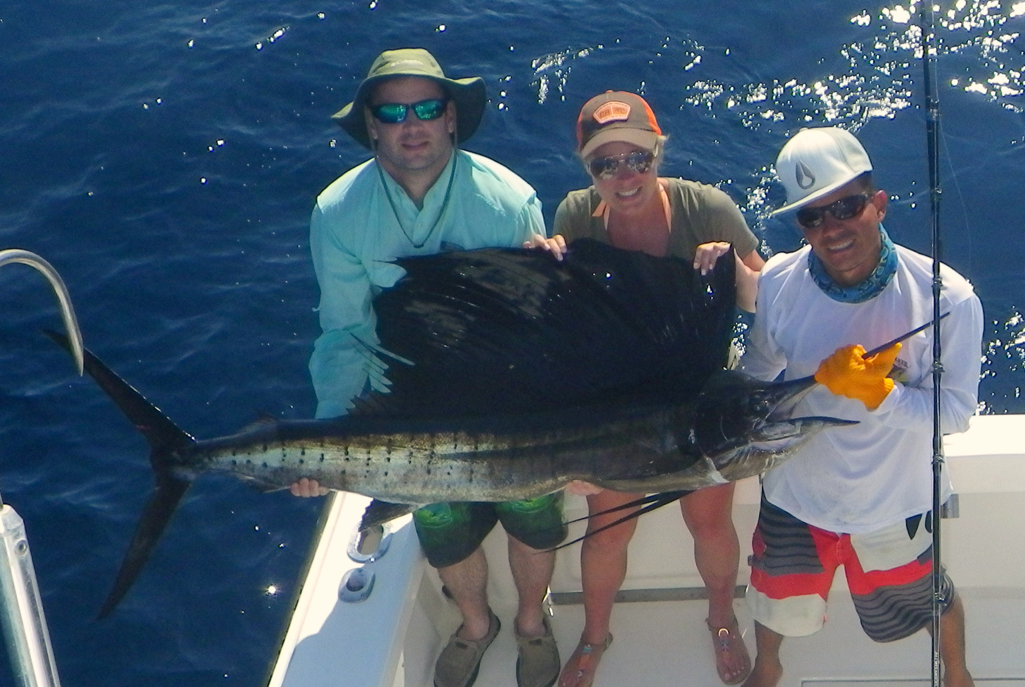 Bryce Dillabough aboard MoonWalker for a full day offshore released 10 Sailfish and boated 2 Mahi Mahi for Dinner