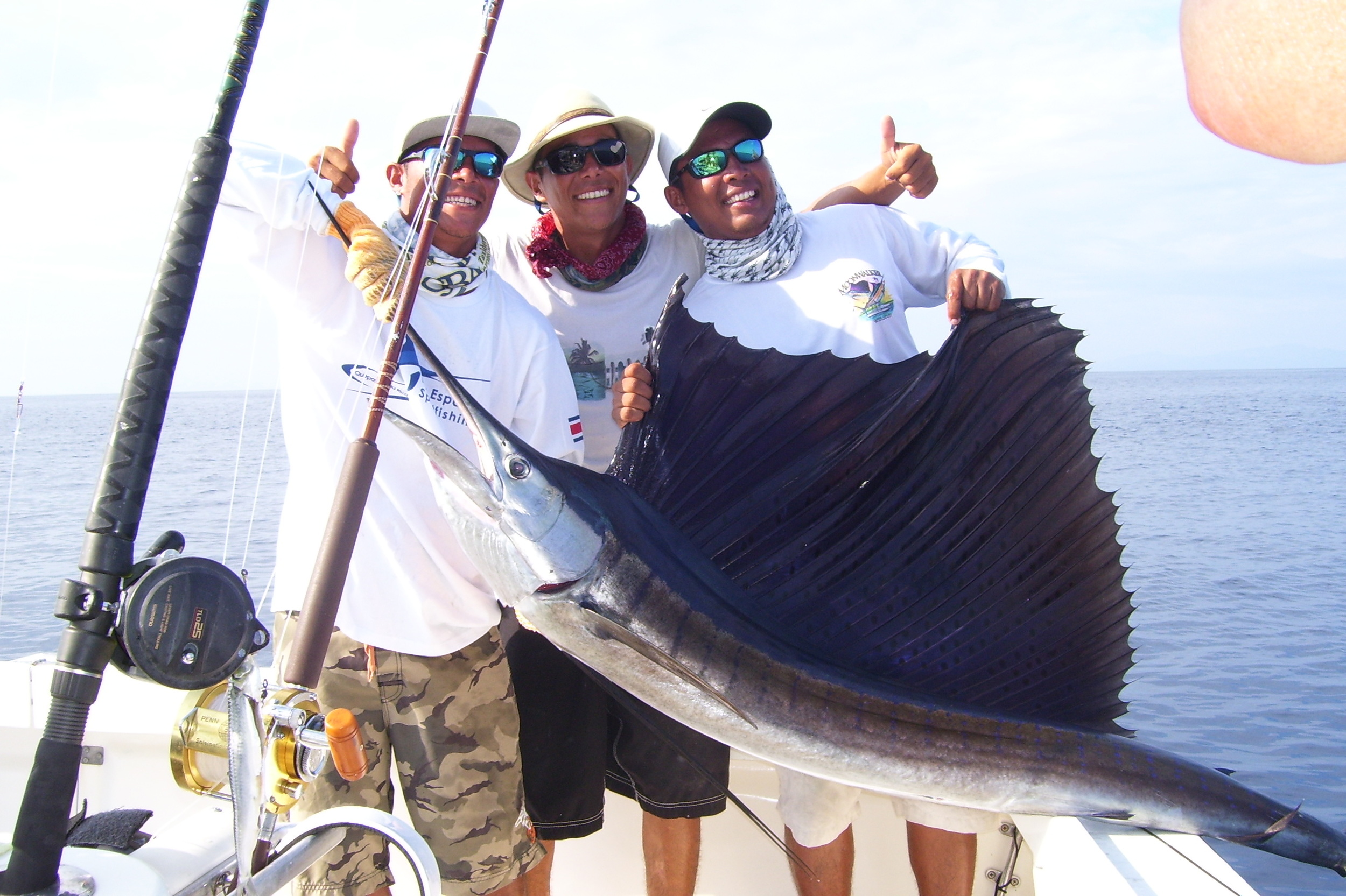 Aaron Rivera released 2 Sailfish and 2 dorado were brought in for dinner