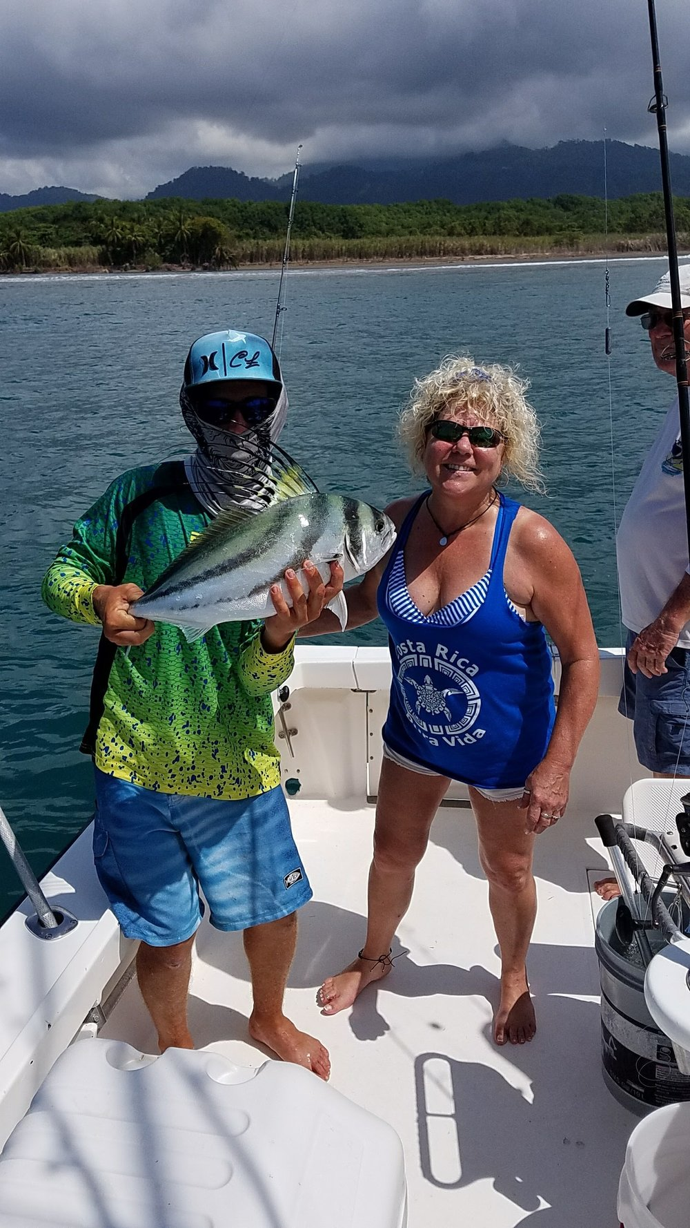 CINDY BAKER BOATED A NICE ROOSTERFISH DOING SOME INSHORE FISHING ON FEBRUARAY 8.