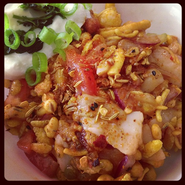 crunchy sweet n sour chaat