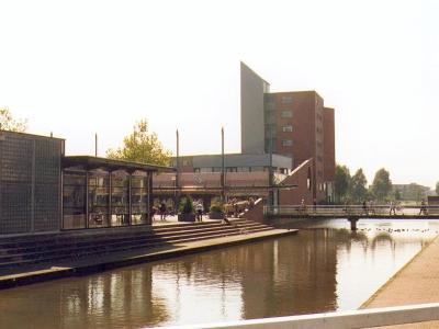 Winkelcentrum Meerland in Purmerend. Beautiful architecture.