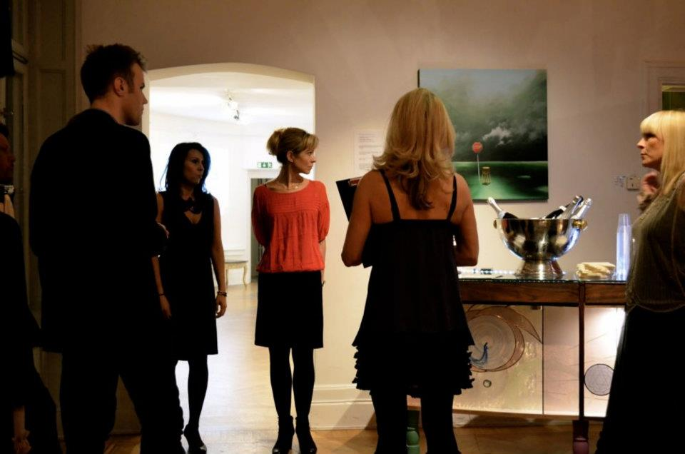 Pre event meeting for a solo show @ Gallery Chambre Separée - Stockholm, Sweden