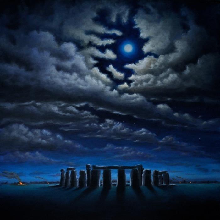 "Stonehenge - 100 x 100 cm / 40"" x 40""  100.000 SEK = 10 646.3 U.S. dollars"