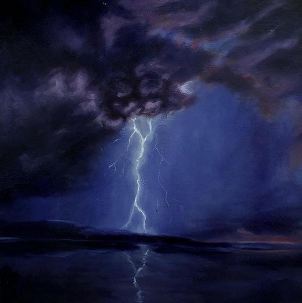 "Here comes the storm V - 40 x 40 cm / 24"" x 24""  40.000 SEK = 4 258.52 U.S. dollars"
