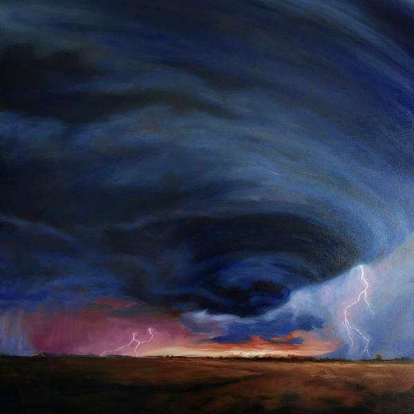 "Here comes the storm VII - 80 x 80 cm / 32"" x 32""  80.000 SEK + 1000 SEK worldwide shipping"