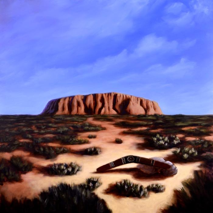 """Uluru - 80 x 80 cm / 32"""" x 32""""  80.000 SEK + 1000 SEK worldwide shipping"""