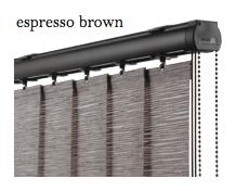 Vogue Slimline Track - Espresso Brown