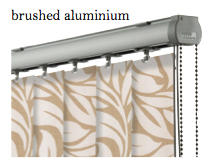 Vogue Slimline Track - Brushed Aluminium