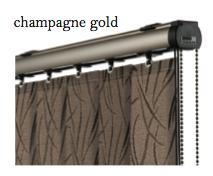 Vogue Slimline Track - Champagne Gold