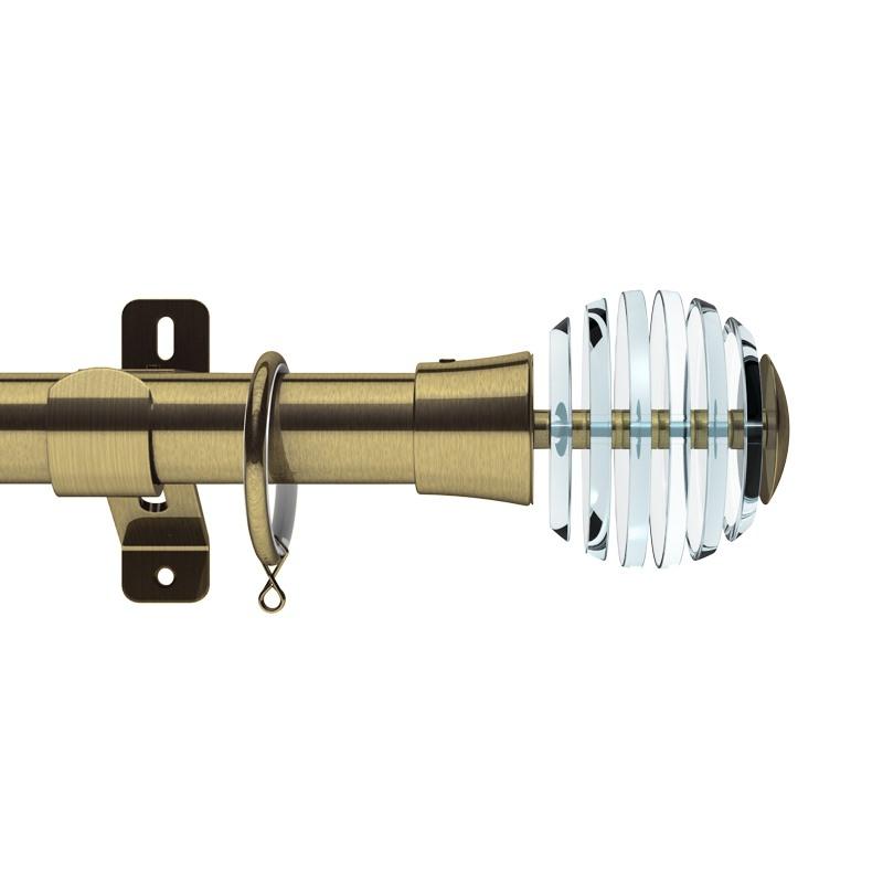 Rondelle Slice Ball Brass