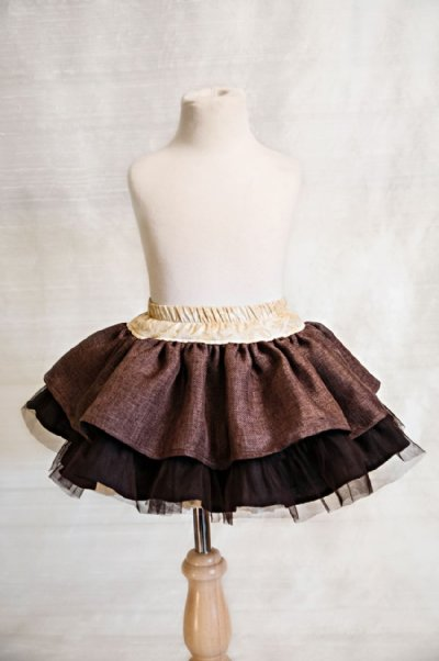 Here's a closeup of the Persnickety Brown Lily Skirt. As with all Persnickety, it's hard to see how beautiful it is until you're holding in your hands and can see all of the beautiful details!