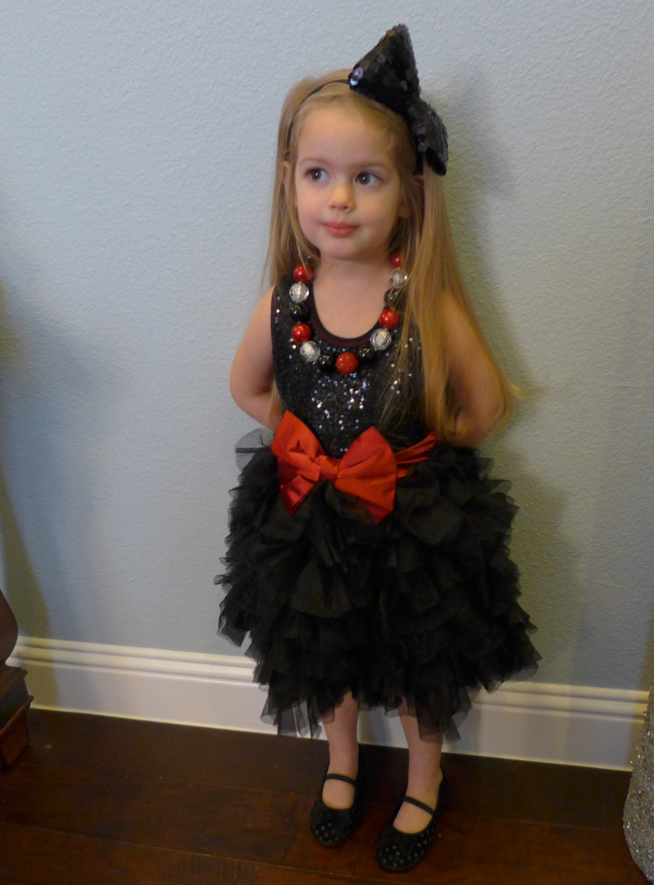 This picture is a tad blurry, but here is the dress paired with a M2M necklace from Dazzled Darling Boutique!