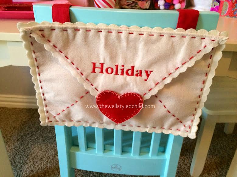 Pottery Barn Kids Envelope Chair Backer-- great little place to store Valentines!