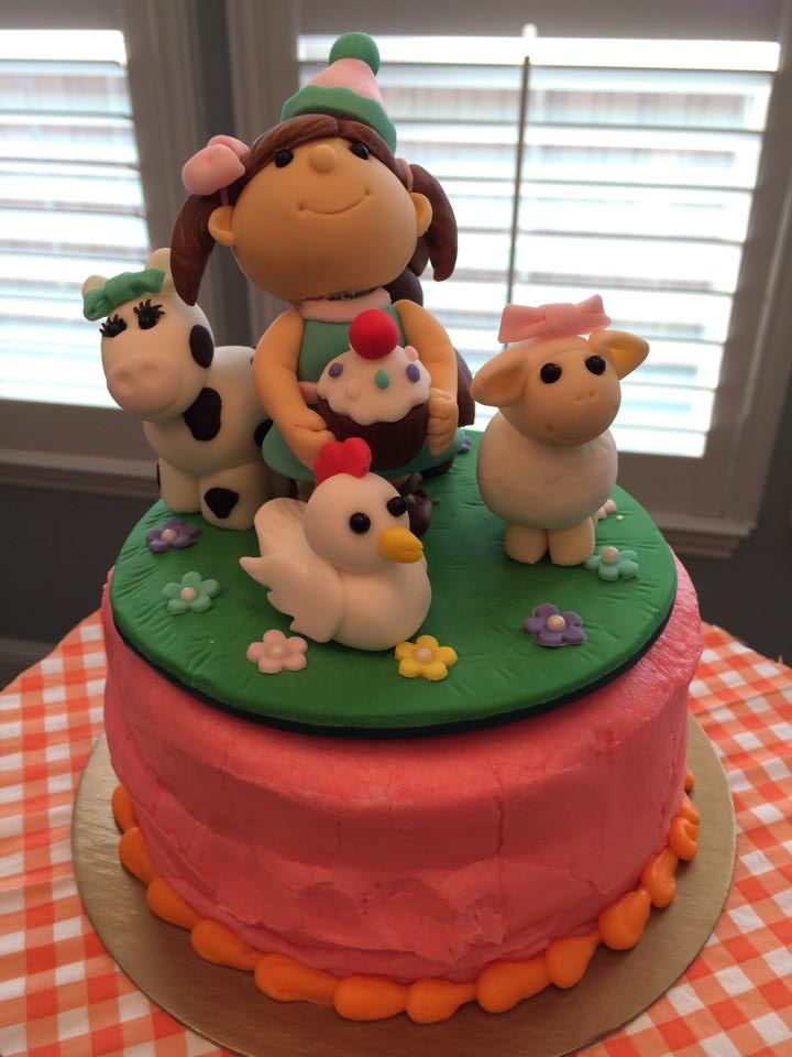Fondant Holiday with her Farm Friends!