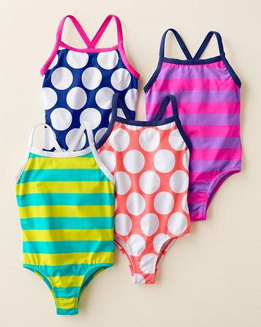 Garnet HIll Kids Wave Rider Cross Back Swimsuits