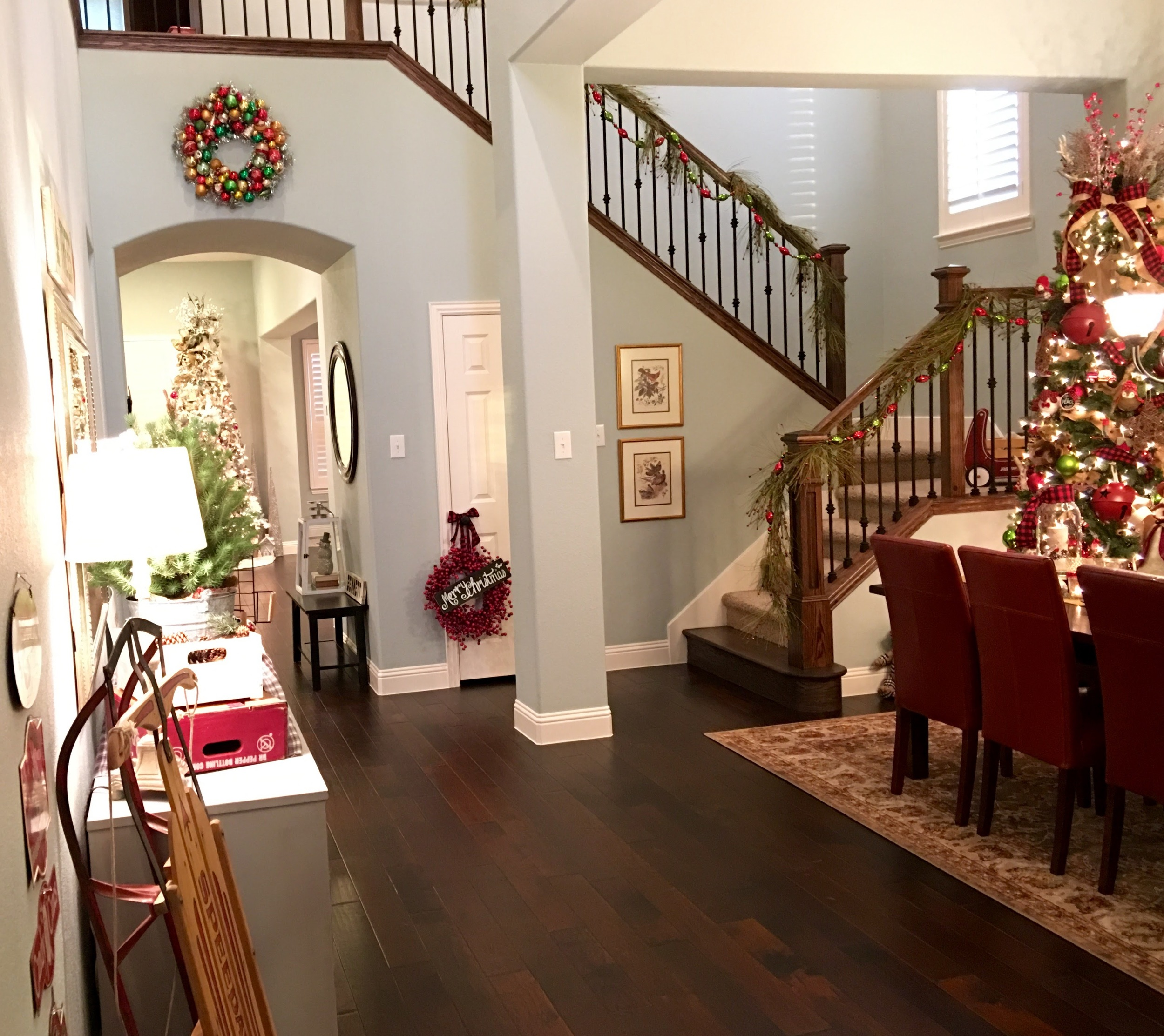 Your view walking in the front door!  Our office is to the right (not visible in this pic), across for the entryway.  Then you move into the formal Dining Room (pictured right) and the buffet on the opposite wall