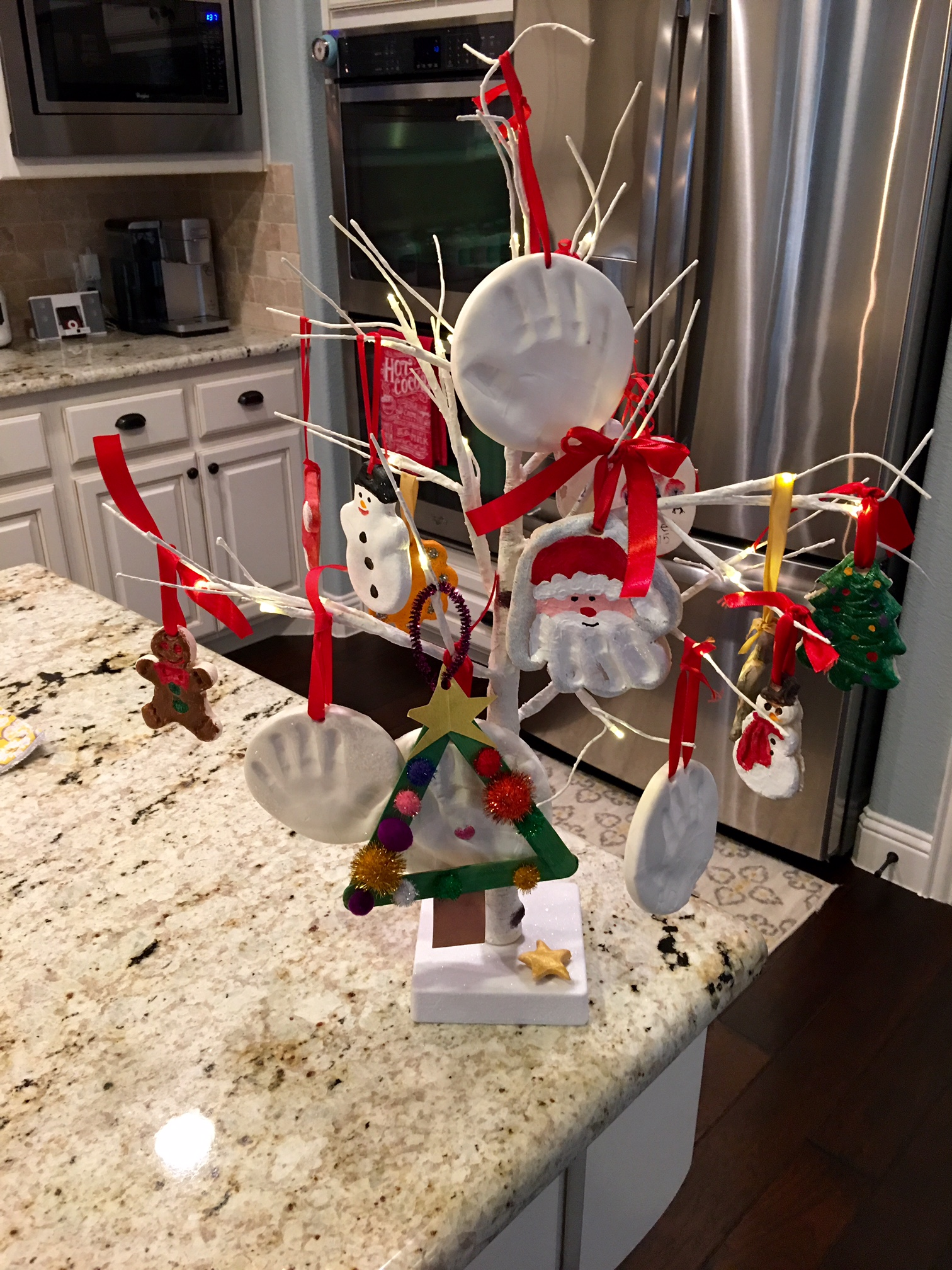 Homemade Ornament Tree