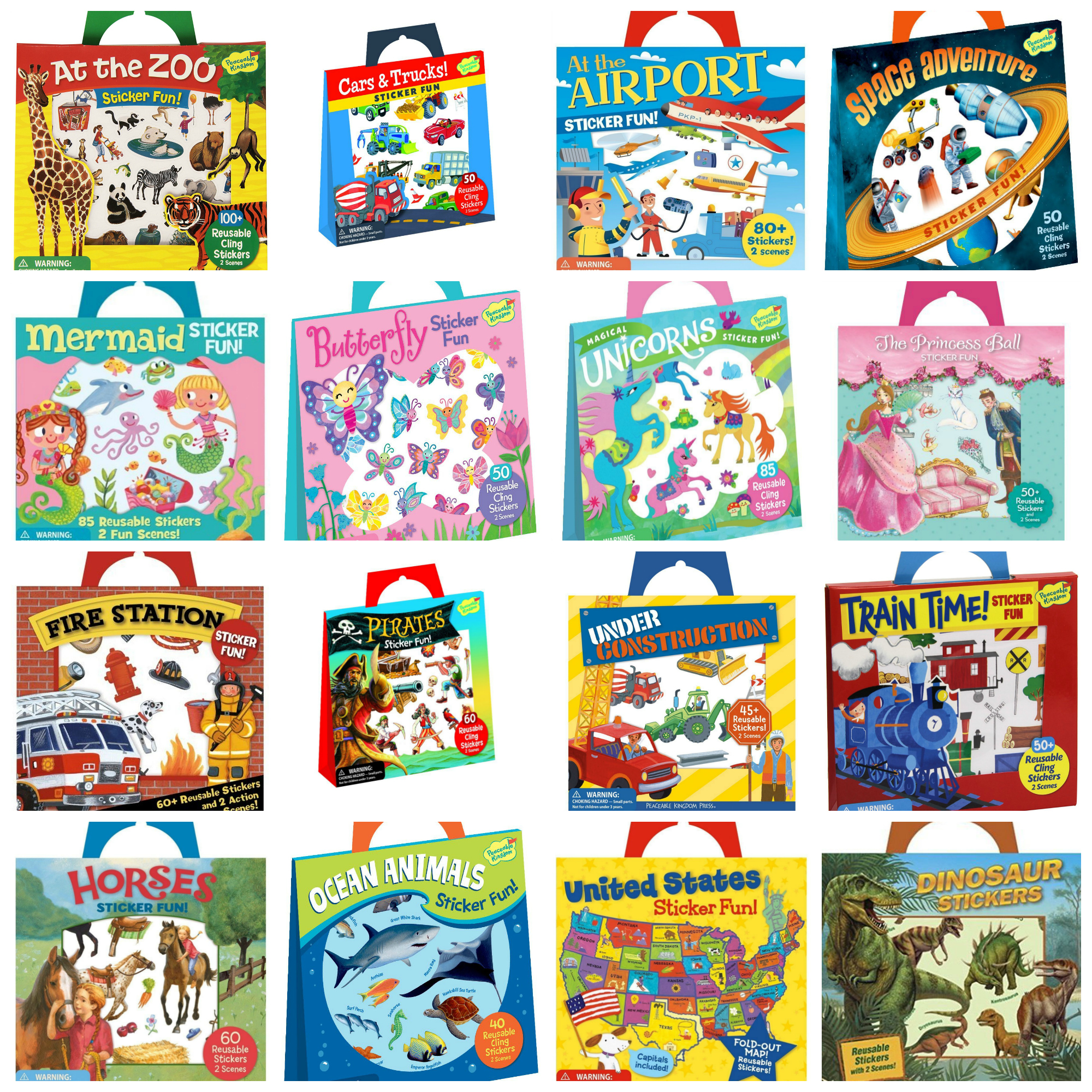 See ALL the Peaceable Kingdom Sticker Fun Sets HERE!!!