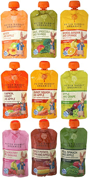 Peter Rabbit Organics Pureed Fruit and Vegetable Packets
