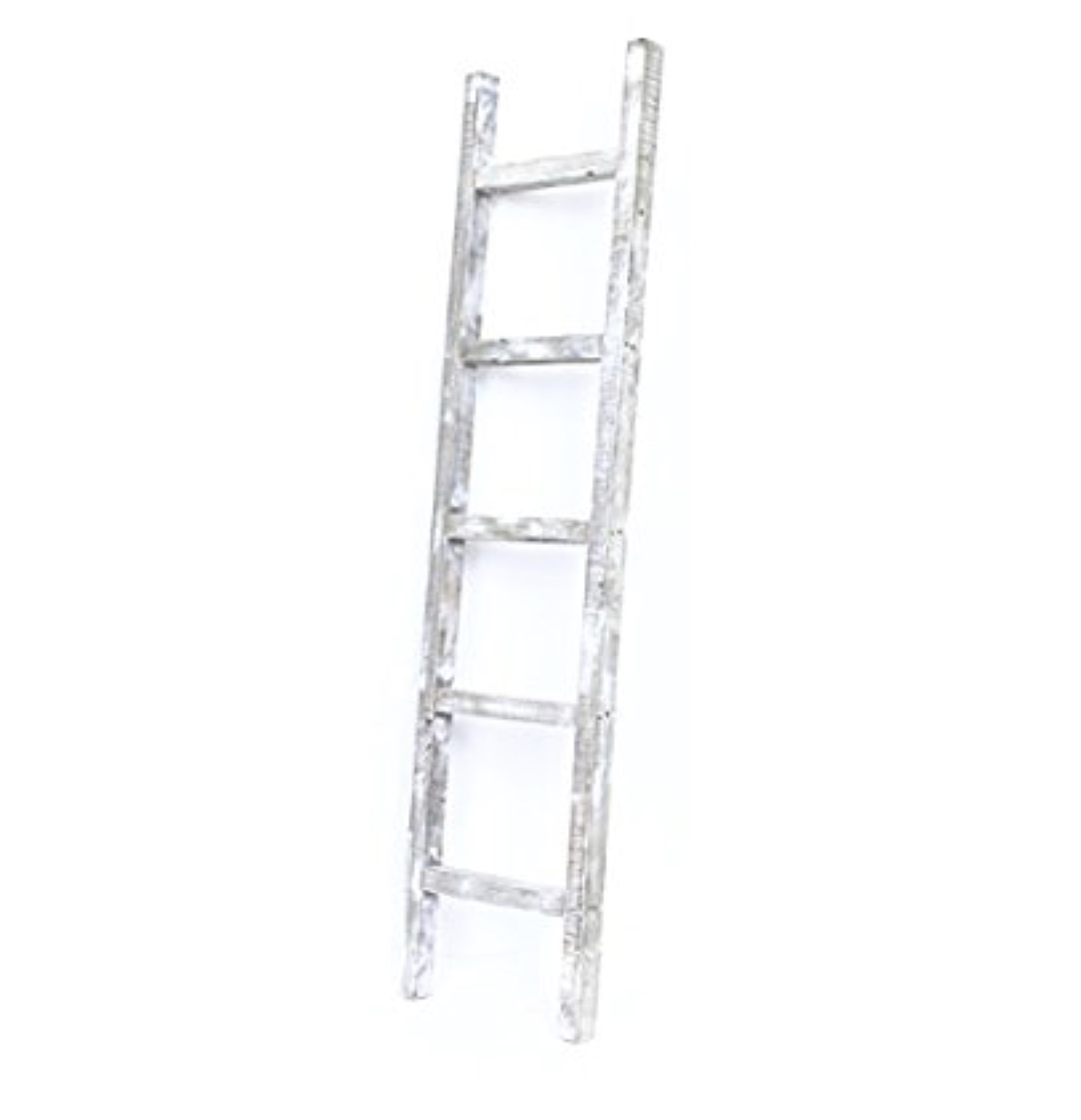 BarnwoodUSA Rustic Decorative Ladder, White Wash, 72inch