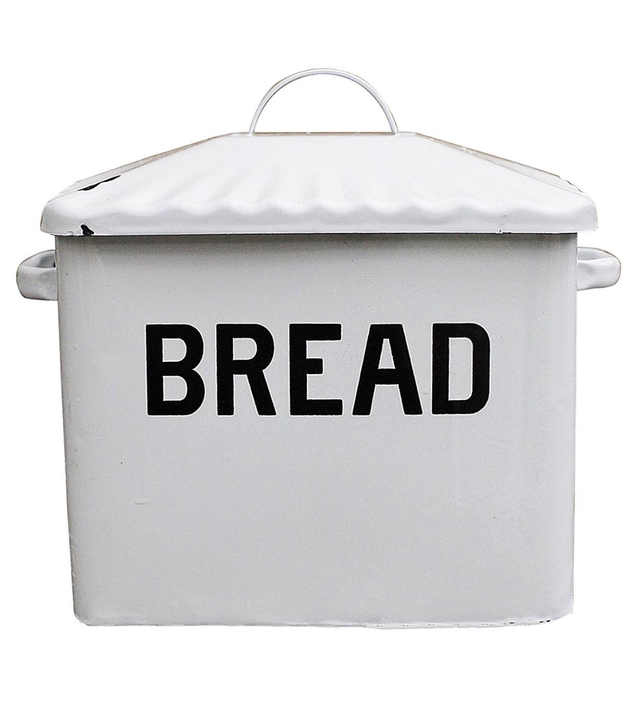 Creative Co-Op Enameled Bread Box