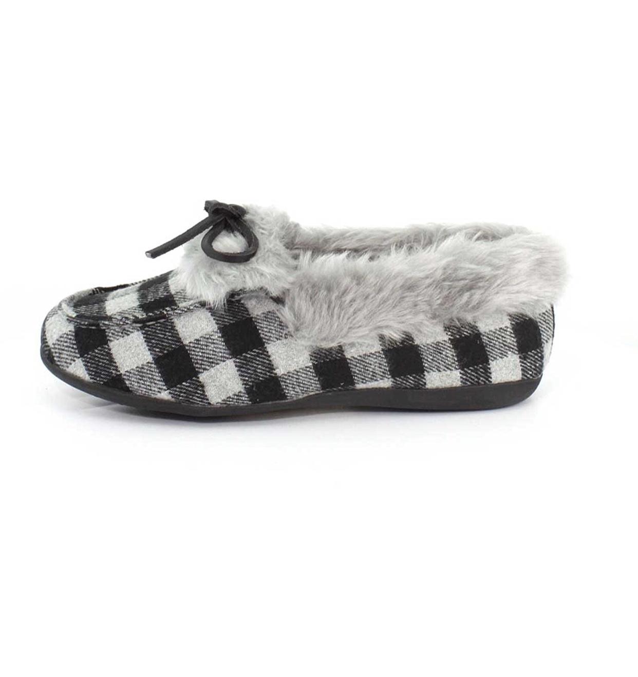 Womens Vionic Faux Fur Juniper Slipper