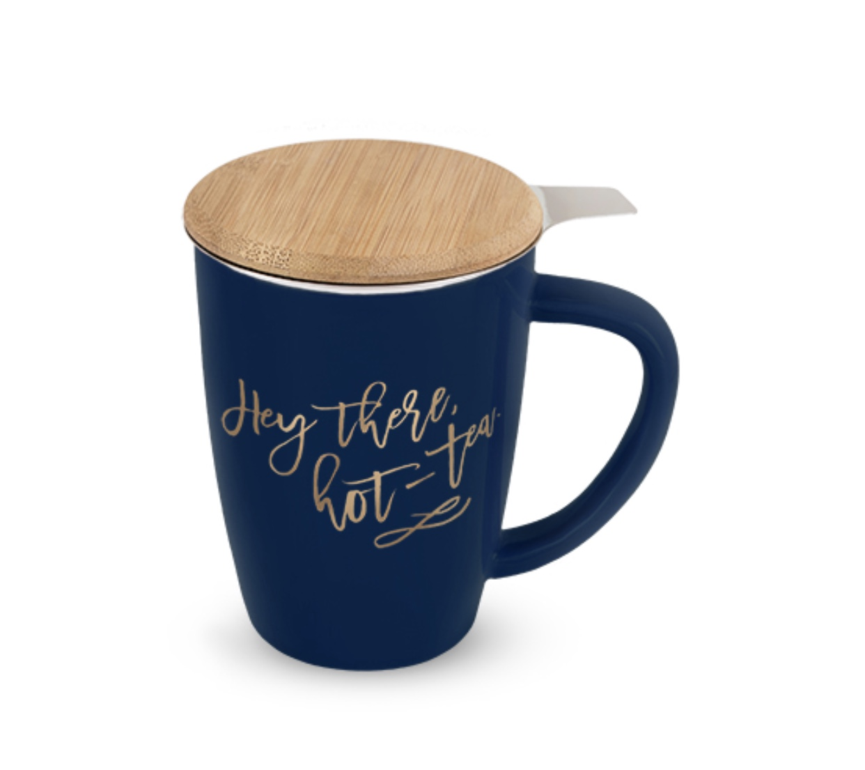 Bailey Ceramic Tea Mug and Infuser in Hot-Tea by Pinky Up