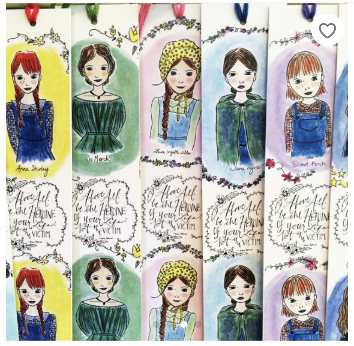 CarrotTop Paper Shop Illustrated Literary Bookmark Set