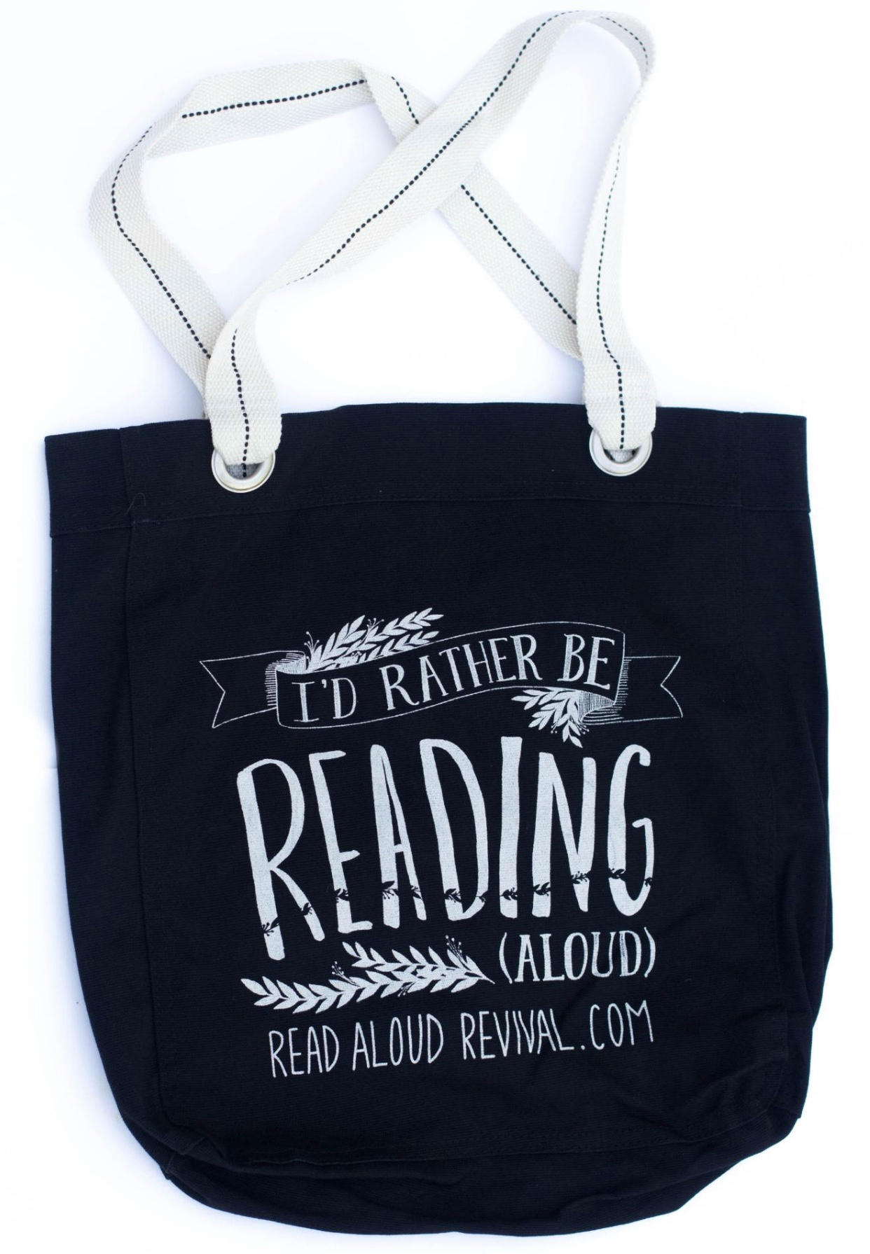 Book Bag from The Read Aloud Revival, Black with Charcoal Lining