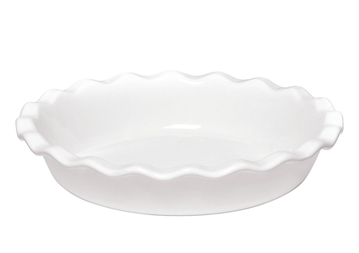 Emile Henry Made in France 9in Pie Dish, Color: Flour