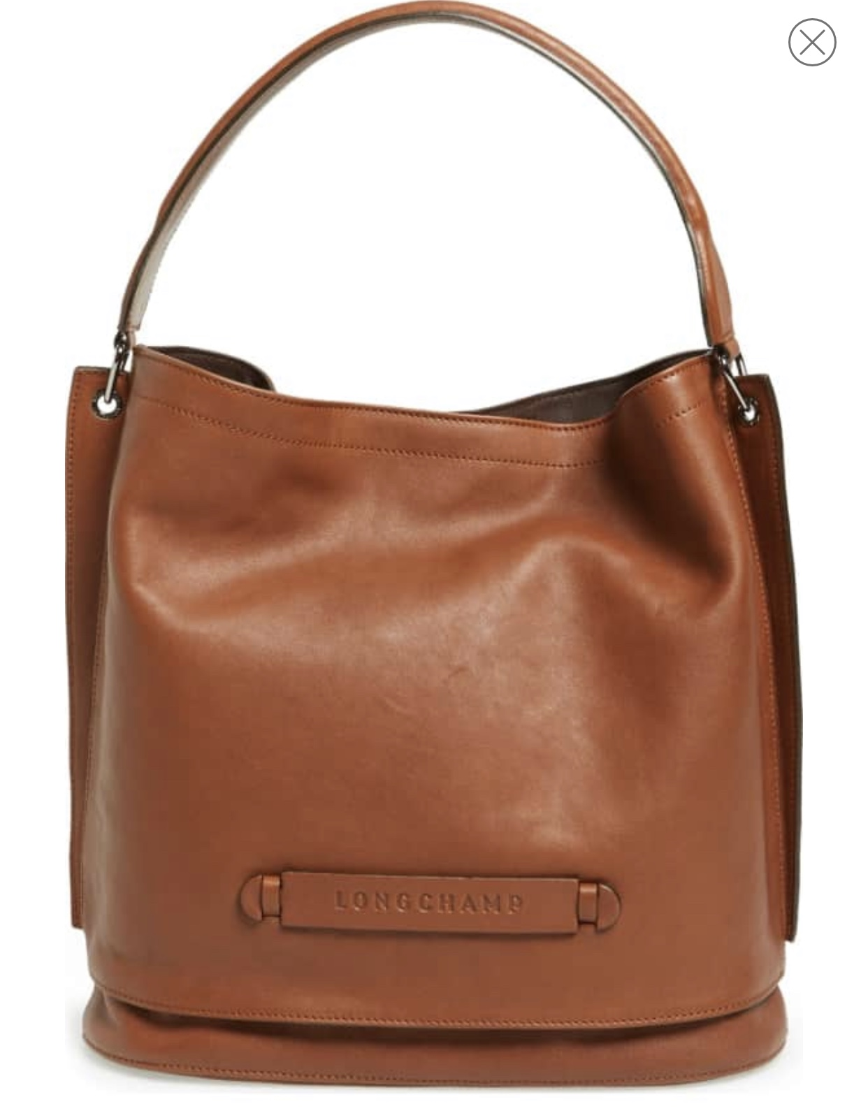 Longchamp 3D Leather Hobo- Cognac