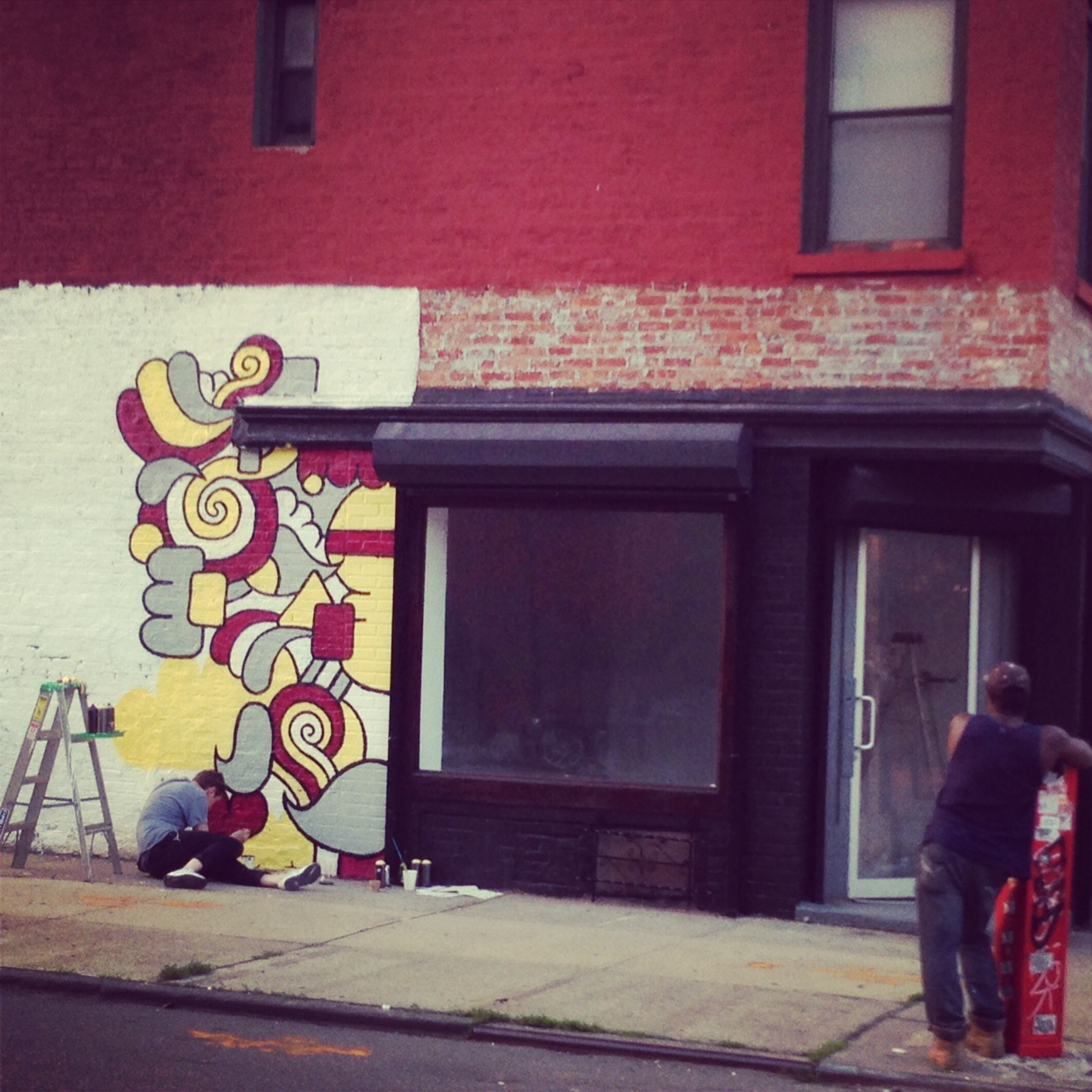 Street artist in Brooklyn.
