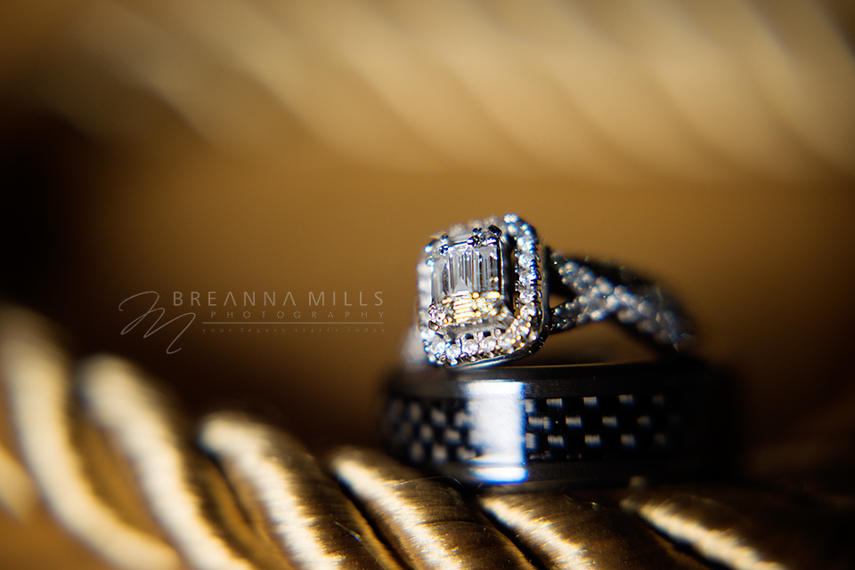 Johnson City Wedding Photographer, Breanna Mills Photography shoots a ring detail shot on bride and groom's wedding day!